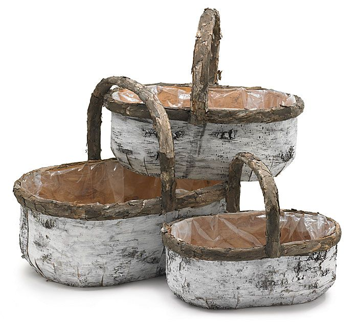Use any size of our #burtonandburton Birch Bark Baskets as a woodsy base for a masculine gift basket. #woodland #mountains #gifts