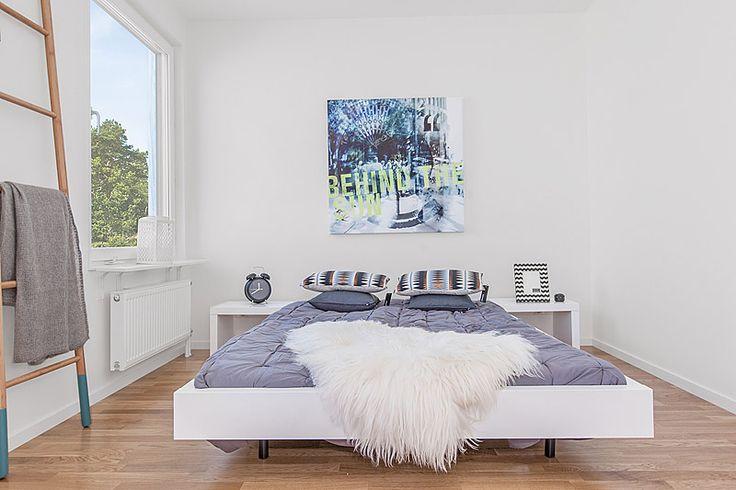 Sovrum i Riksbyggens Brf Porslinet i Gustavsberg, Värmdö