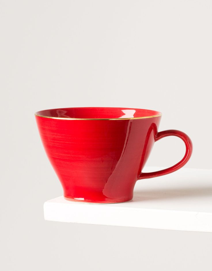 PLAIN GOLD CUP red