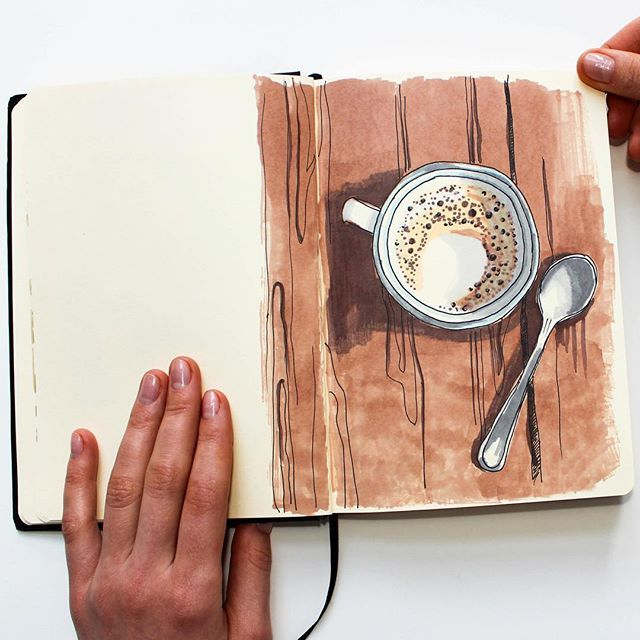 More coffee sketches created with #promarker