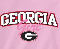 georgia bulldogs | Georgia Bulldogs Football T-Shirts - Pink Georgia Girl