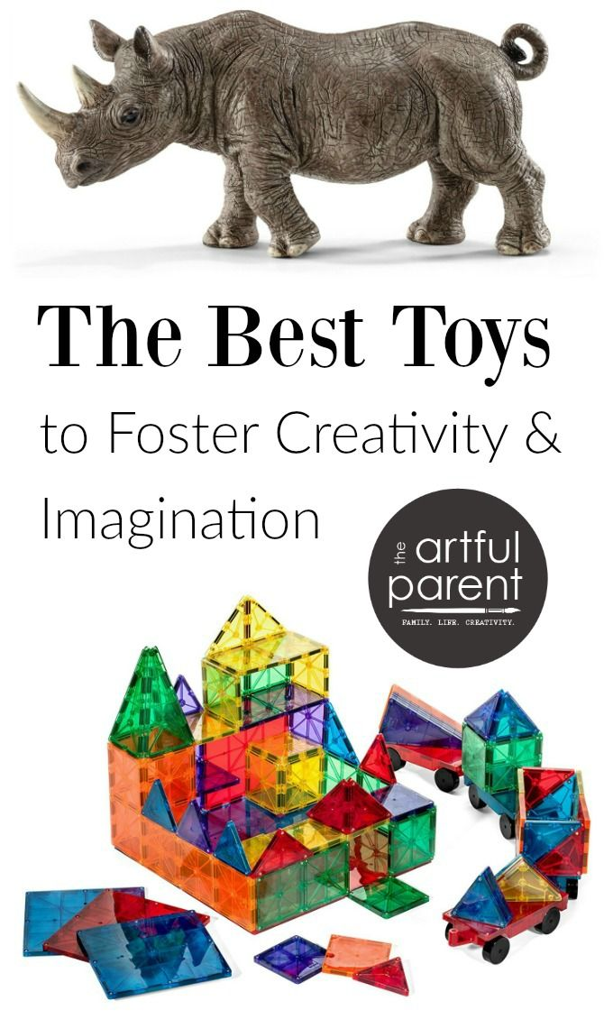 A list of the best open-ended toys for kids, focusing on construction & pretend play. Toys like these foster play, creativity & imagination.