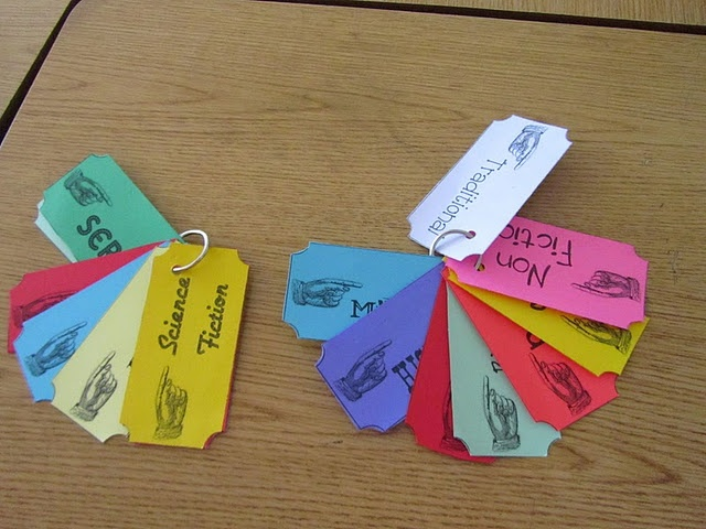 Genre Reading Tickets to get students to read a variety of genres.