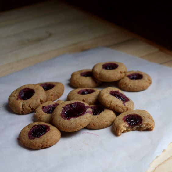 Blackberry Jam Thumbprint Cookies made with Otto's Naturals Cassava Flour (AIP, Coconut-Free) | Don't Eat the Spatula