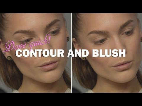 Done Quick – Contour and Blush- Linda Hallberg makeup tutorials - YouTube