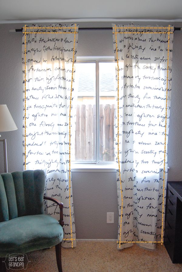 Easy tutorial for how to make non-lined curtains using IKEA text fabric (or other light fabric)