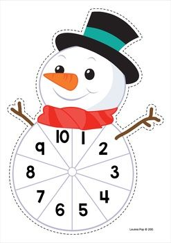 Winter Math Centers for Kindergarten. Subtraction from 10.