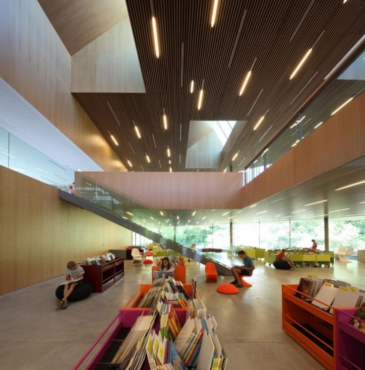 Multimedia Centre Reading Room Lighting Interior Design Interiors