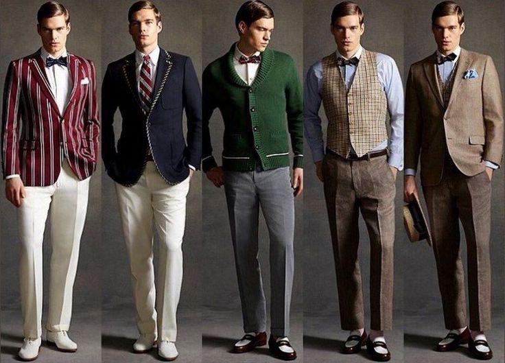 mode homme années 20: costumes avec gilets et vestes
