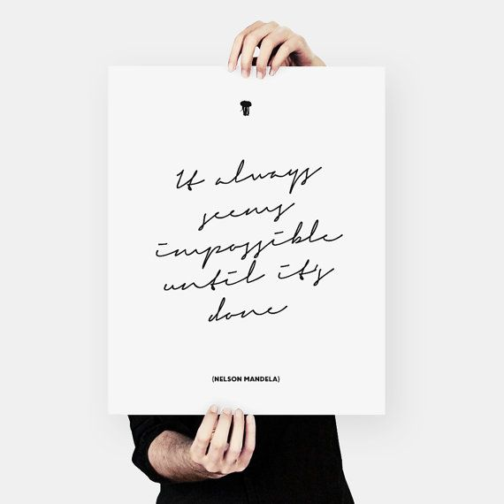 Nelson Mandela Quote African Wisdom Typography by MessProject, €4.50 #typography #quote #poster #wallart #housewarminggift #graphicdesign #blackandwhite #inspirational #motivational #motto #mandela