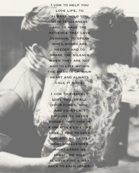 Im in love with these vows