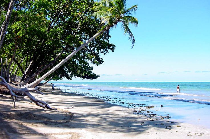 Praia de Bainema, na Ilha de Boipeba, na Bahia