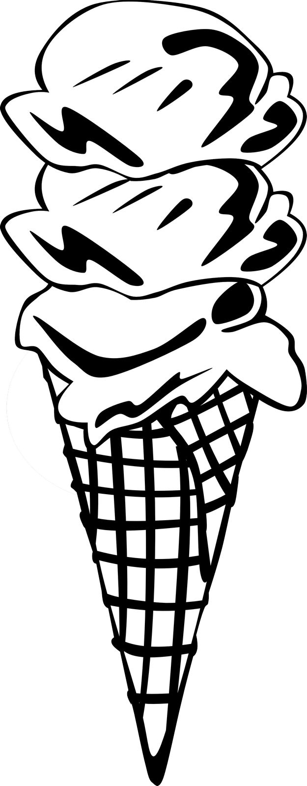 Zmrzlina - Právě zde vidíte náhled omalovánky k vytisknutí, jež se jmenuje Zmrzlina. Naše <strong>omalovánky</strong> jsou určené pro vytisknutí na tiskárně. Proto jsou šetrné k očím vás i vašich dětí. Vytištěnou omalovánku můžete vybarvit tužkou, fixou, křídou nebo vodovými barvami dle své fantasie.