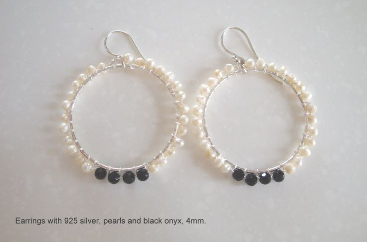 silver pearls and onyx
