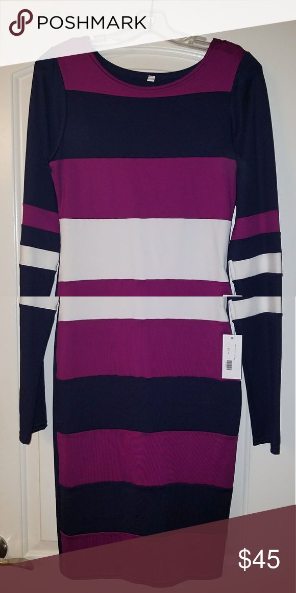 New (Never Worn) Striped Bodycon Dress New Striped Bodycon Dress by Tags Boutique  (Kandi Burruss of RHOA). Tags Boutique  Dresses Midi