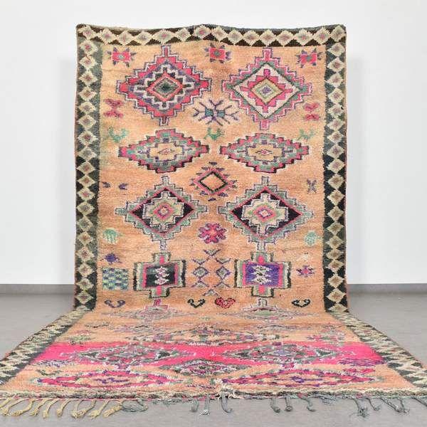 Vintage Boujad Rug 6 1 X 13 Ft Handmade In Morocco Benisouk In 2020 Boujad Rug Rugs Artisan Rugs