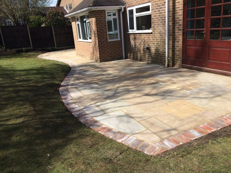 Wonderful Shaped Patio Adding Charm And Character To An Outside Space.