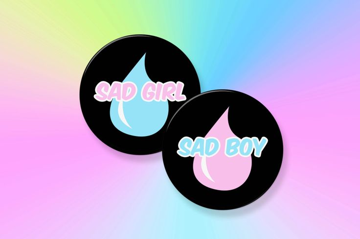 "Sad Girl & Sad Boy Set 2.25"" Pinback Art Button Badge -- Button Sets, Pastel Goth, Cry Baby, Custom Buttons, Vaporwave, Tumblr, Seapunk by FatBats on Etsy https://www.etsy.com/au/listing/455655108/sad-girl-sad-boy-set-225-pinback-art"