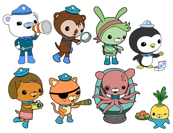 Octonauts Crew and GUPS Disney Junior svg files