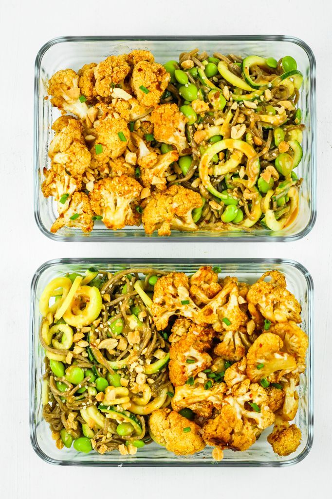 Thai Peanut Cauliflower Meal Prep