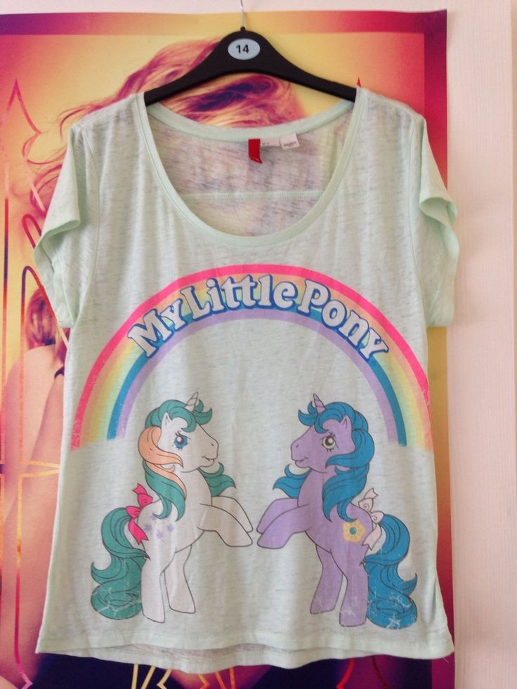 H M Mint Green 'MY Little Pony' T Shirt Size 10 | eBay
