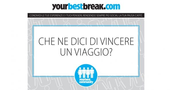 Offrire un caffè conviene! Su #YourBestBreak la pausa diventa un bel gesto e si viene pure premiati!   #ad #ad
