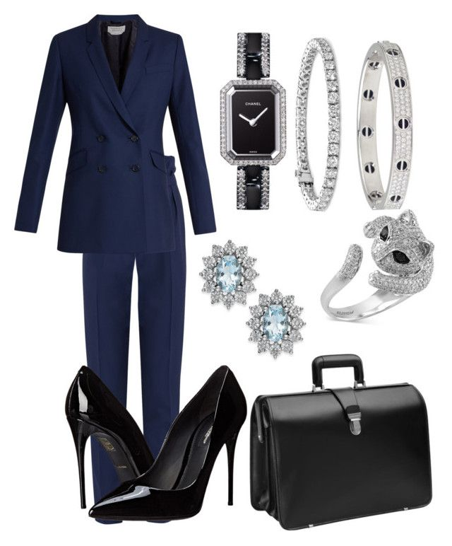 """""""Lawyer 5"""" by distressqn on Polyvore featuring Gabriela Hearst, Blue Nile, Chanel, Cartier, Dolce&Gabbana, Johnston & Murphy and Effy Jewelry"""