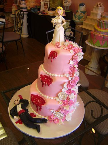 Pink Divorce cake ... for just in came purposes. Lol.