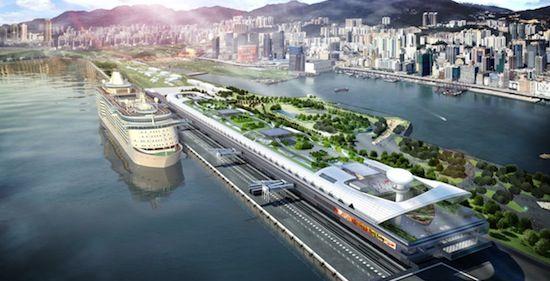 nieuwe cruise terminal Hong Kong