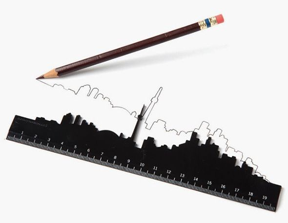 The Toronto skyline makes for one stylish ruler