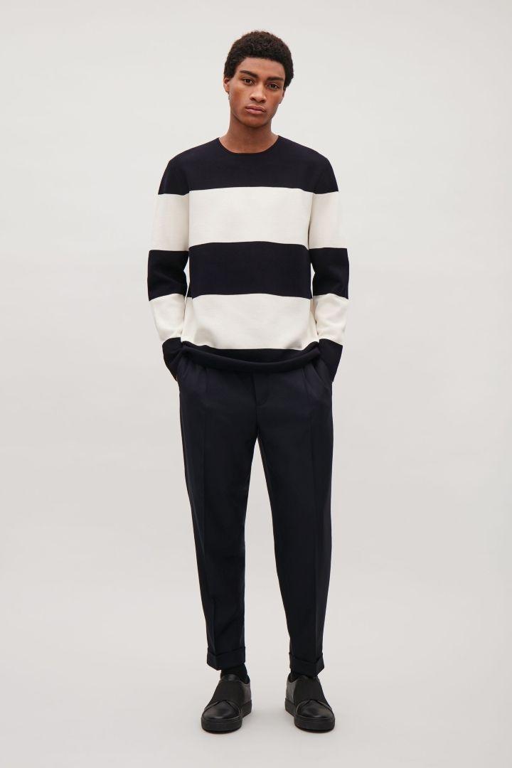 COS | Colour-block stripe jumper