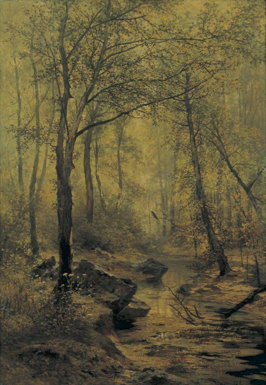 Julius Mařák - Morning song (1888-9) #RomanticRealism #painting #art #Czechia