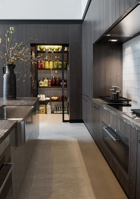 Black Wooden Kitchen