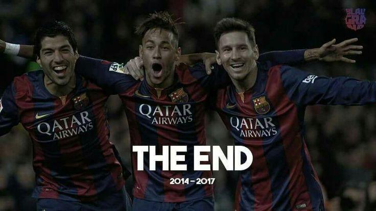 The end of MSN FCB FC Barcelona  Barça