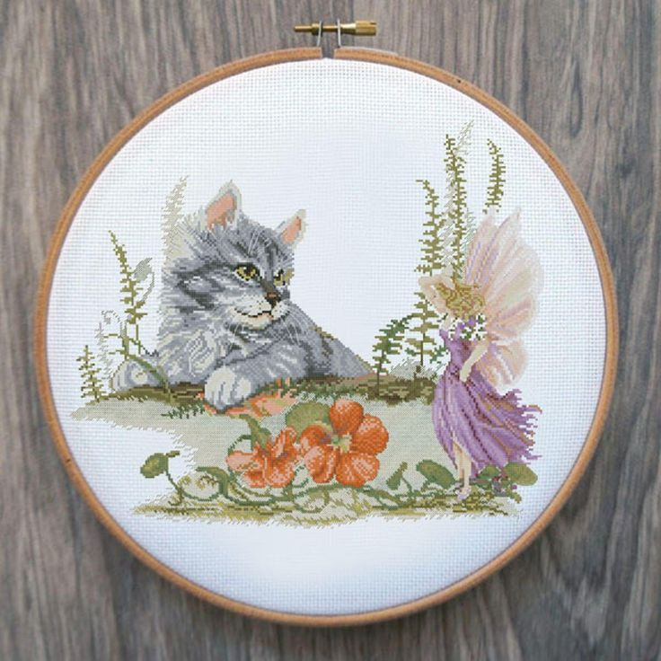 Furry Fairy Friends Cross Stitch Pattern byXstitch | Craftsy