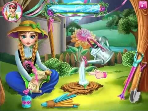 Disney Frozen Anna Frozen Anna flower videos games for kids - YouTube