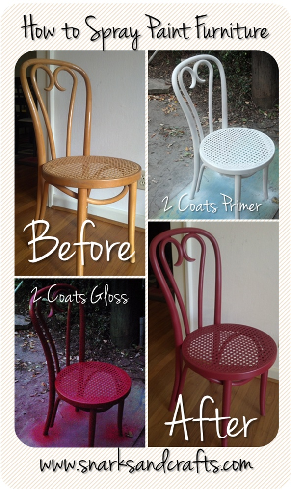 How to Spray Paint Furniture: Before and After of a Thrift Store Chair