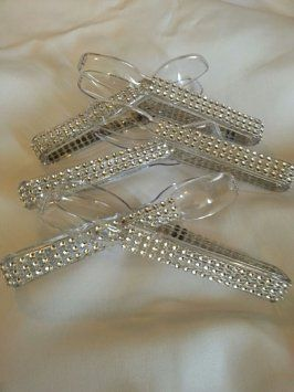 These would be beautiful for the dessert table at Weddings. When planning a wedding or a special party, small details make a huge impact! I have many other colors and configurations available, message me to inquire or for photos. Listing is for 6 Silver Bling Candy Buffet Tong. Shipping Included!