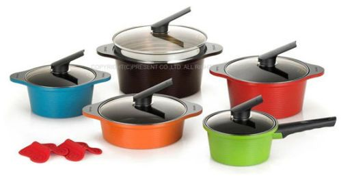 Happycall 10 piece Cookware Pot Set Kitchen Aluminum,ceramic coating Happy call