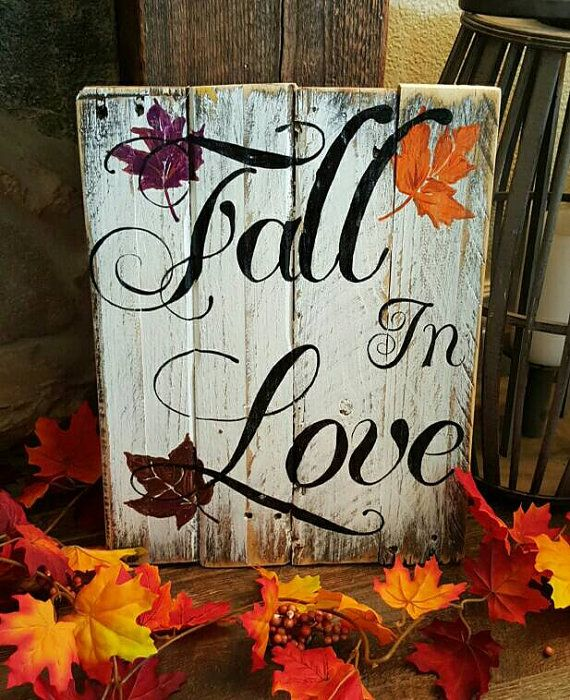 Fall in Love Pallet Sign