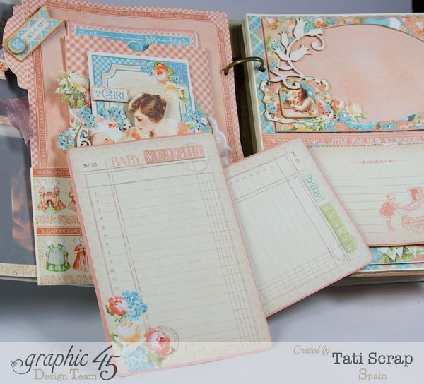 "Tati, Mixed Media Album, Precious Memories, Graphic 45, ""The First Year of Baby"""