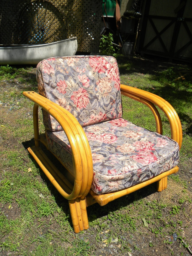 Clean vintage mid century 60s 70s rattan bamboo patio for Vintage 70s chair