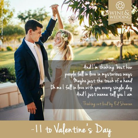-11 ... Waiting for #Valentine's Day #Love songs for your first #wedding dance Thinking out loud by Ed Sheeran