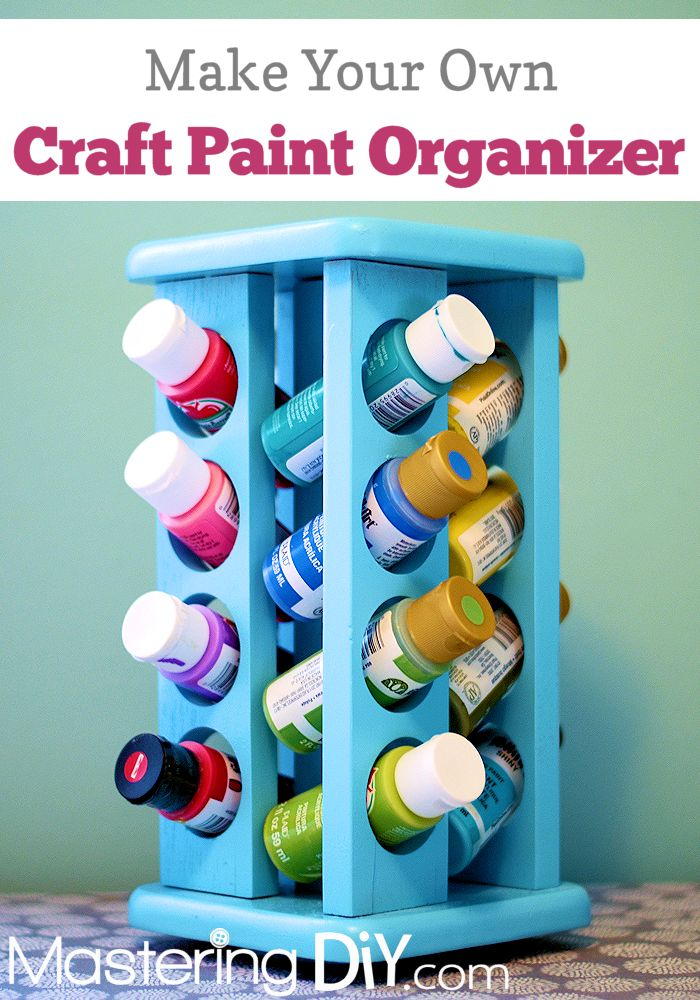 Craft Paint Organizer!  I so need to do this!