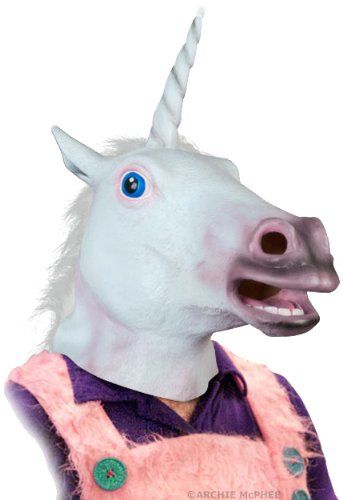 Hmmmm. Just when I thought freakiness was strecthed to the limit. There is no more universal balance now. Ying and Yang are dead.  Accoutrements Magical Unicorn Mask