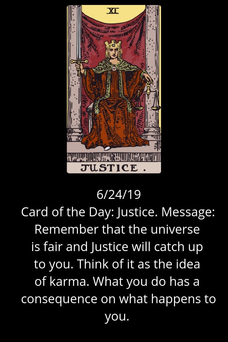 Card of the day justice message remember that the