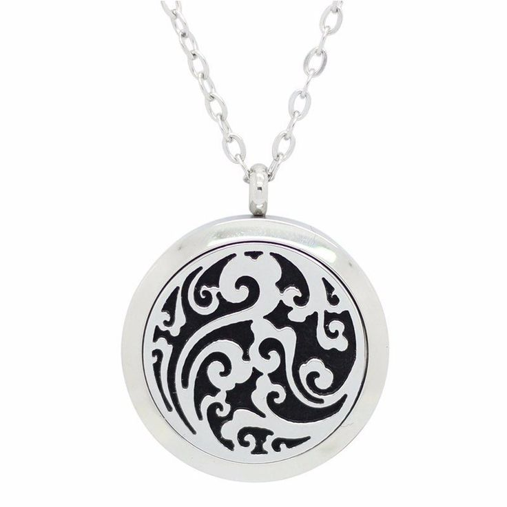 Celestial Heaven Round Aromatherapy Essential Oil Diffuser Locket Necklace