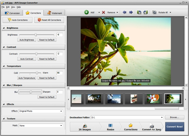 AVS Image Converter is a universal conversion software. Convert BMP, GIF, JPEG, PNG, TIFF, PDF and other image formats.