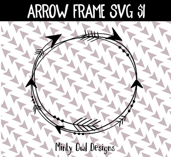 Tribal Circle Arrow Frame Monogram Frame SVG by MintyOwlDesigns