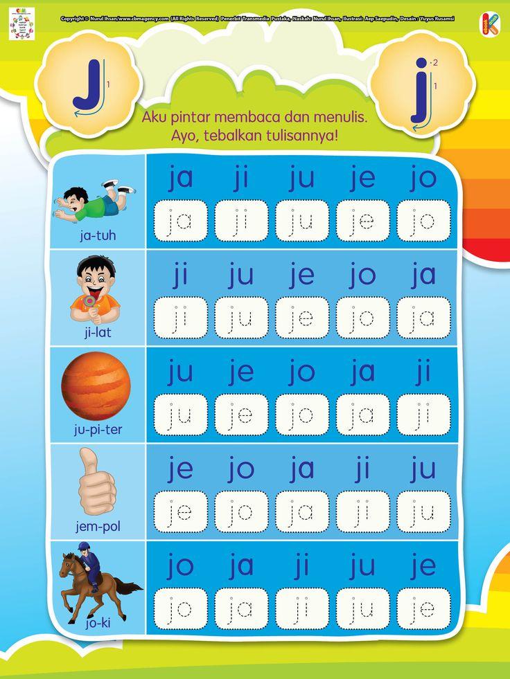 Membaca dan Menebalkan Huruf Berawalan J | Ebook Anak